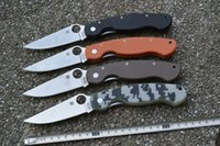 Wholesale Factory Direct OEM Spyderco C36 Military Model G Plain Edge Knife CPM S30V Blade Tactical folding knives with Retail box