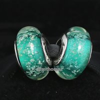 ariel red - DIY Loose Beads Handmade Lampwork Sterling Silver Ariel s Fluorescence Murano Glass Charm Bead Fits European Pandora Jewelry Bracelets