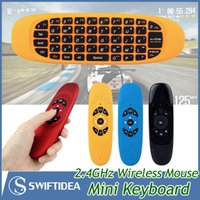 Wholesale 2015 mini keyboards wireless GHz Fly Air Mouse Gyro Sensing easy use colors For iPad Smart TV Box Tablet PC