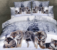 animal print bedding california king - D Wolf bedding sets animal print california king size queen fitted cotton bed sheets quilt duvet cover double bedspreads
