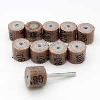 Wholesale 10pc Grit Sandpaper Grinding Wheel Mini Drill Dremel Accessories Rotary Tool Abrasive Buffing Stone Polishing for Woodworking