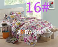 Wholesale 043016 Reactive Print bedding sets luxury include Duvet Cover Bed sheet Pillowcase king Queen Full size home textile