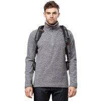 Wholesale New Brand Thermal Men s Hiking Fleece Jacket Half Zip pullover Men clothes For Hiking amp Camping