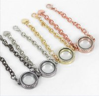 Cheap Newest Magnetic Crystal Floating 25mm Living Memory Glass Locket Bracelet Charm Bracelets 8pcs lot