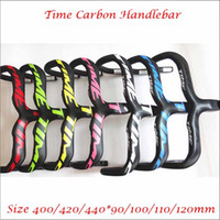 bicycle handle stem - Colors Time Carbon Fiber Drop Handlebars Road Bikes Glossy Painting Bicycle Handlebar Integrated With Stem K Wave Cycling Handle Bar