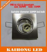 lighted cup holder - 10px LED Ceiling lamp holder GU10 MR16 ceiling spot light LED Halogen spot lamp led lamp cup fixtures downlight Sand nickel aluminum
