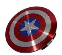 10pcs / lot 2015 rebajas! cargador portátil banco de la energía 6800mAh USB Avengers Captain America Escudo de carga Fuente de alimentación móvil