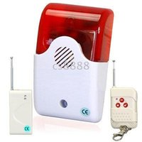 Cheap Fire alarm Security System Loud Sound and Light Flashing Maximum 100M Remote Controlling