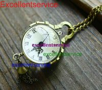 Wholesale Hot Sale pendant watch necklace antique glass balls foreign fisheye glass ball pocket watch steampunk