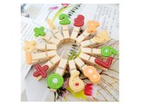 Wholesale 14pc Bag Wooden Number Clip Bookmark For Album Message Sticker School Stationery Party Decor Kid Educational Intelligence Toy