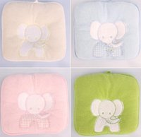 baby pillow infant - Cotton Towels Pet Pillow Softline Baby Pillow Newborn Cotton Solidify Pillow Cushion With Elephant Embroidery Infants Bedding Supplies J3031