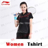 badminton apparel - Li ning jerseys Shirts Shorts AAYH405 Quick Dry Breathable Table Tennis and Badminton Sport Set Shool Sports Apparel