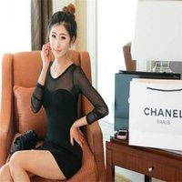 Wholesale 2015 The Chinese market summer Sexy Women Stitching Slim Fit Long Sleeve T shirt Tops Black white sweat shirt