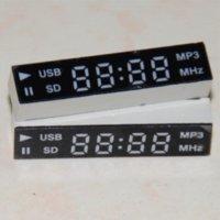 acrylic dvd display - 2pcs LED Display segment digit for Car Audio System or DVD Red digital breathalyser