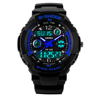 batteries led clock - 2016 New Skmei Hot Sell S SHOCK Hombre Sports Watches Men Led Digit watch Clocks LED Dive Military Wristwatches