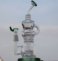 barrel glasses - Newest Klein Recycler vapor rig scientific bong phonix glass bong water pipe Pulse bong BIO glass dabrigs glass waterpipe barrel incycler