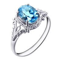 topaz - Amazing Fine Quality Natural Blue Topaz Rings Sterling Silver ring Jewelry