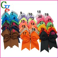 cheer bow holder - 30pcs quot Large Cheer Bow With Elastic Band Cheerleading Hair Bow Dance Cheer Bow Ponytail Hair Holder For Girls Hair Accessories