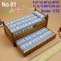 dollhouse miniature - 1 Inch Scale Dollhouse Miniatures Wood Trundle Bed Doll House Bedroom Furniture