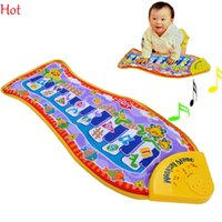 Wholesale Hot Fashion Baby Toys Piano Music Smart Toys Kidss Fish Animal Musical Educational Toys Children Gift Mat Touch Kick Play Fun Toy SV007278