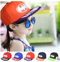 batman cap sale - MZ2068 Colors Brand Sales years Hiphop New Fashion Embroidery BATMAN Children Baseball Caps Patchwork dandys