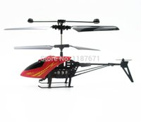 Wholesale 2014 Shatter Resistant Mini Remote Control Aircraft Channel I R with led light RC Helicopter Kids Toy Gifts