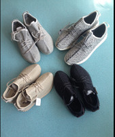 Wholesale double box kamatiti best quality Yeezy Moonrock Oxford Tan Pirate Black Running shoes snakers with yeezy bag receipt size US5