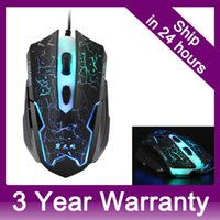 Wholesale Adjustable DPI Buttons Optical USB Wired Gaming Mouse Bright Colors LED Game Mice for PC Laptop Computer Computador order lt no trac