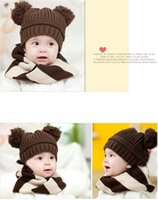 baseball cap ear warmer - Crochet Baseball Kids Baby Boys Winter Warm Toddler Woolen Ear Caps Children Simple Mouse Hat Baby Winter Hat