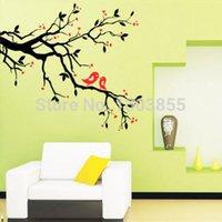 Wholesale Large Tree Branches Art Mural Home Removable Vinyl Wall Decals Sticker FLGP5