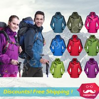 Wholesale Outdoor Sports Jacket Clothing Genuine Waterproof Windproof Climbers jersey men women wear casual wear Large clothes Warm liner increase XL