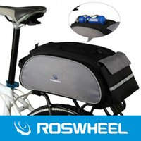 bicycle shelf - ROSWHEEL L Bicycle Rear Bags Bike Shelf Pocket Pannier Shoulder Pack Outdoor Cycling Hunting Hiking MTB