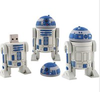 achat en gros de cartoon 32gb-2015 Vente en gros 32 Go 64 Go 128 Go Star Wars R2-D2 Robot dessin animé USB 2.0 Stylo Flash Pen Drives Sticks Disques Pendrives de goodmemory