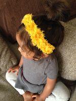 African-American Wigs straight Every Day Use children girls new solid rose floral headbands girl 2015 flower Jewelry headband cotton headbands Handmade Fashion hair accessories headwear