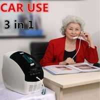Wholesale 5L Portable Oxygen Concentrator for Home and Car Mini oxygen bar M1 with car inverter Concentration Year Warranty UK EU US Free