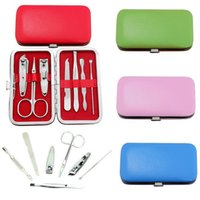 Wholesale New Arrivals Set Manicure Nail Care Tools Clippers Scissors Kits Stainless Steel JH23