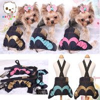 apparel for dogs - High Quality Brand Newest Arrival Dog Clothes Cotton Jean Rompers For Pet Dogs Fashion Autumn and Winter Apparel For Small Dogs