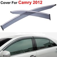 auto vent visors - 4pcs Vent Rain Sun Shield Window Side Visor For Toyota Camry Stickers Covers Car Styling Auto Accessories