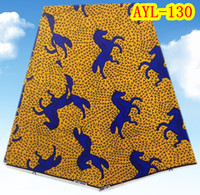 Fabric african clothing - Traditional Nigeria Textile Dutch Wax African Clothing Cotton Fabric Yards Per AYL