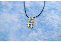 alloy ladders - 10pcs Gold Silver Simple Ladder Shape Necklace Geometric Werner Staircase Pendant Necklace Jewelry Gifts for Friend N116