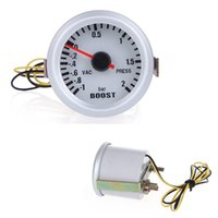 Wholesale Car quot mm BAR Turbo Boost V Vacuum Auto Car Press Gauge Meter With Blue LED Light
