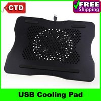 Wholesale USB Power Notebook Laptop Cooler Pad Cooling Station Fan with Blue LED Light