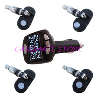 TPMS Tools adjustable pressure sensor - Top Quality SPY Car Wireless TPMS Tyre Pressure Monitoring System With Internal Sensors Angle Adjustable LCD Display