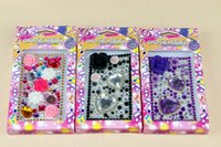 Wholesale Diamond Cell Phone Stickers Ornaments For Iphone Samsung Personality Phone Cases Stickers Fashion Phone Cases Stickers B22021