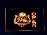 Wholesale jb Stella Artois Beer OPEN Bar LED Neon Light Sign
