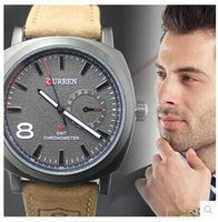 Wholesale New Curren Watches Fashion CURREN Quartz Business Mens Watches Men s Military Watches Mens Leather Strap Sports Watches