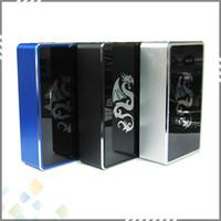 vapor mods - Original Luxyoun Smaug W Mod VW Box Mod W E Cigarette colors Black Blue Silver fit Battery with thread Vapor Mod DHL Free