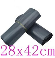 Wholesale OMH Dark grey x42cm Adhesive sealed plastic Mailing Packaging bag BZ10