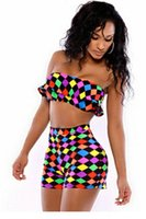Wholesale Sexy Charming Geometric Print High Waist Pant Set LC4257 sport set women survetement femme