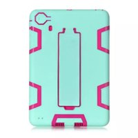 Wholesale For Ipad Mini Hybrid in1 Robot Design Heavy duty kickstand Protection Hard PC Silicone Dual Color Durable Rubber Skin OPPBAG